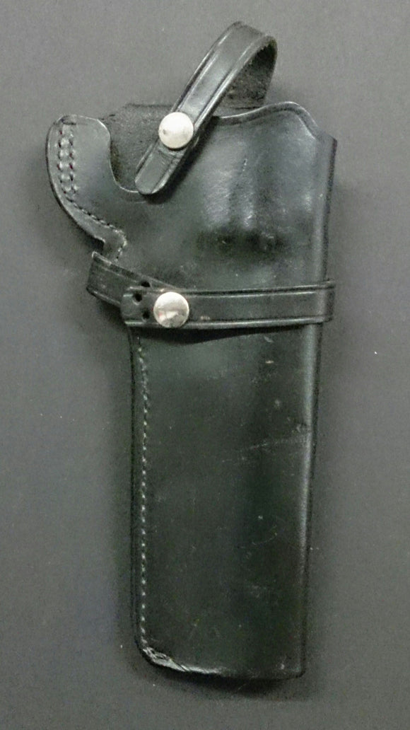 Black Leather Holster, Right Hand, Made By Skilled Craftsmen - Roadshow Collectibles