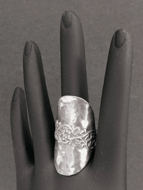 Sterling Silver Ring, Hand Hammered, from Israeli - Roadshow Collectibles