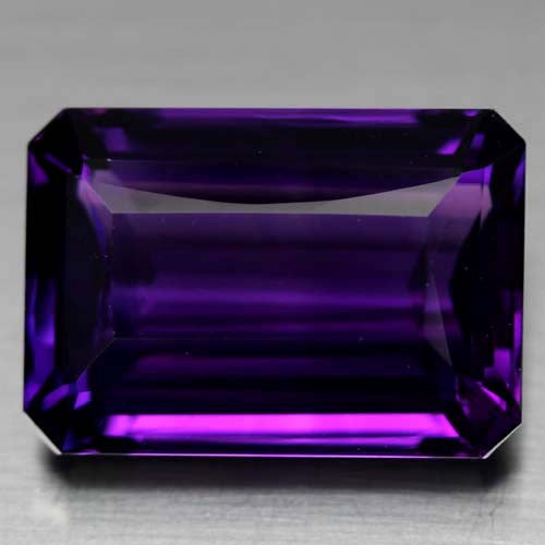 Emerald-Cut Amethyst Gemstone, Deep Purple, Brazil - Roadshow Collectibles