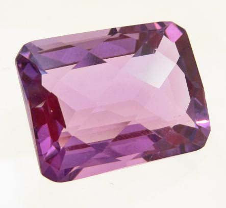 Emerald-Cut Purple Violet Amethyst Gemstone, Brazil - Roadshow Collectibles