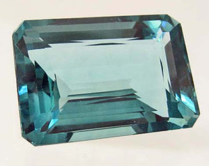 Blue Aquamarine Emerald Cut Gemstone, Africa - Roadshow Collectibles