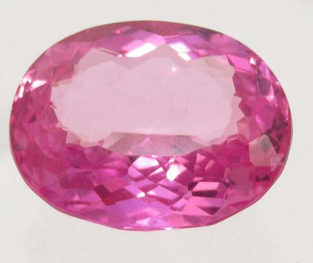 Oval-Cut Pink Topaz Gemstone, Brazil - Roadshow Collectibles