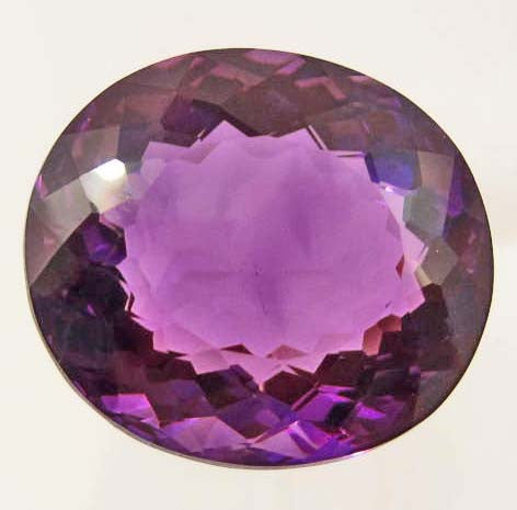 Oval-Cut Violet Purple Amethyst Gemstone, Brazil - Roadshow Collectibles