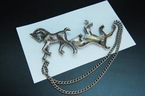 Sterling Silver Turquoise Horse Sweater Clip - Roadshow Collectibles