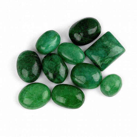 Green Beryl Gemstones, 10 Pieces, Various Shapes and Sizes, Colombia - Roadshow Collectibles