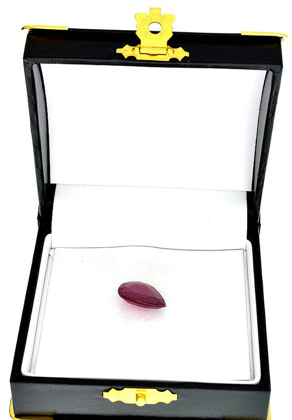 Pear-Cut Ruby Gemstone, Translucent, Slightly Purplish Red, Africa - Roadshow Collectibles