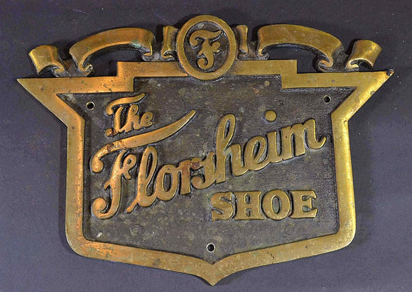 Florsheim Advertising Shoe Sign, Bronze, Circa 1925 - Roadshow Collectibles