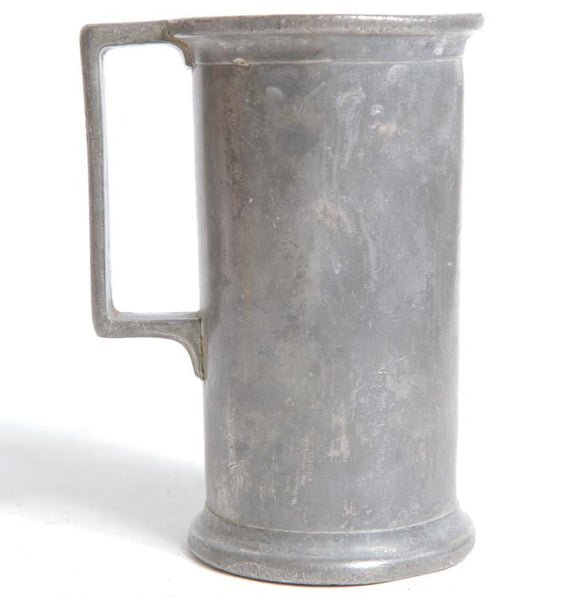 Civil War Era Pewter Field Mug with Handle 1861-1865 - Roadshow Collectibles
