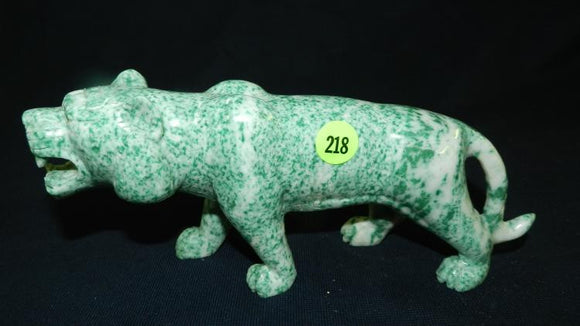 Tiger Figure, Asian Hand Carved, Natural Shoushan Stone - Roadshow Collectibles