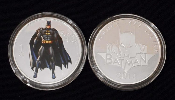 Batman Collectible 1 oz .999 Silver Clad Commemorative Coin - Roadshow Collectibles