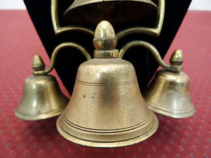 Brass Sleigh Bells, Four Bells Held By Arched Brackets, Early 1800s - Roadshow Collectibles