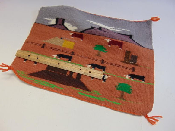 Beautiful, Rug Wall Hanger, a Navajo Pictorial Weaving of Pastoral Scene - Roadshow Collectibles