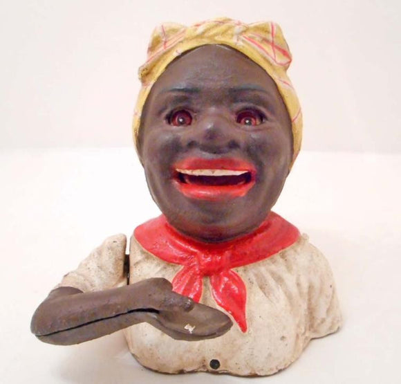 Black Americana, Mammy Mechanical Bank, Cast Iron - Roadshow Collectibles