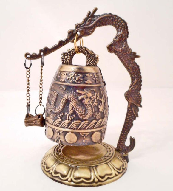 Bell, Dragon Relief Sculpture In Brass, Chinese - Roadshow Collectibles