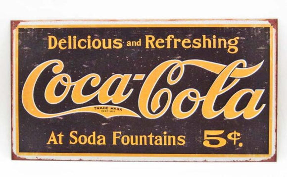 Coca-Cola Metal Sign, Repro - Roadshow Collectibles