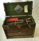 Gerstner, Quarter Sawn Oak Machinist Tool Box Chest, Seven Drawers - Roadshow Collectibles