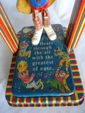 Wind Up Tin Toy, Musical Man on The Flying Trapeze - Roadshow Collectibles
