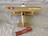 ERTL San Francisco 49ERS Coin Bank Biplane Diecast Made In Mexico 1997 - Roadshow Collectibles