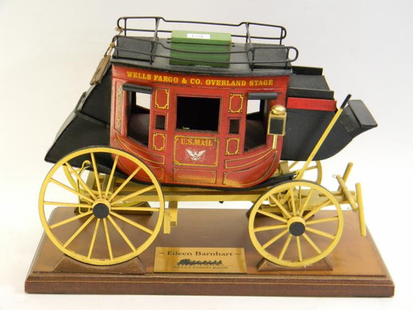 Wells Fargo Stage Coach Model, Presentation Service Award - Roadshow Collectibles