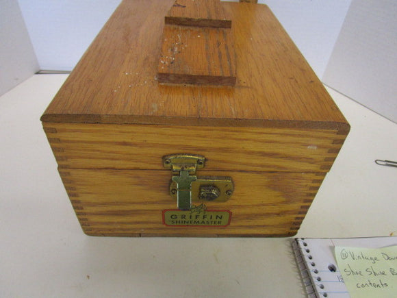 Griffin Shinemaster Shoe Shine Box, Oak Made - Roadshow Collectibles