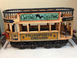 Double Decker French Trolley Car, Cast Iron and Wood - Roadshow Collectibles