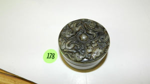 Inkwell, Hand Carved In Jade, Image Of Pixiu Lucky Beast, Chinese - Roadshow Collectibles