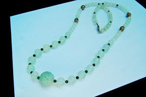 Carved Jade Aventurine Necklace with Cloisonne Beads - Roadshow Collectibles