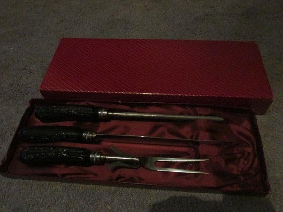 Sheffield Knife Carving Set, Handmade, Made In England - Roadshow Collectibles