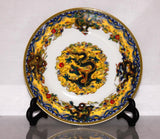 Charger Ceramic Plate, Extremely Detailed, Subject Group Of Dragons - Roadshow Collectibles