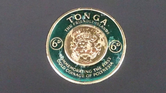 Tongan Stamp Commemorating The First Gold Coinage Of Polynesia - Roadshow Collectibles