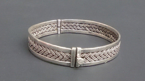 Sterling Silver Hand Woven Braided Bracelet, Men's & Women's - Roadshow Collectibles