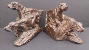 Bookends, a Pair, Bronze, Irish Setters - Roadshow Collectibles