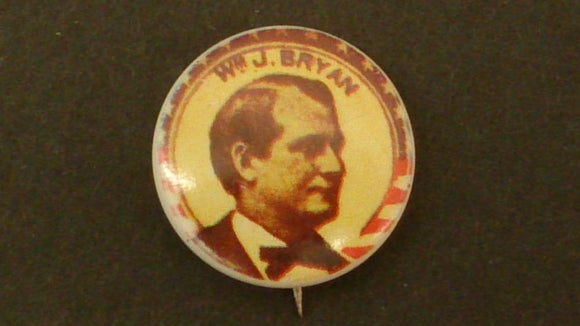 William Jennings Bryan, Celluloid Campaign Button, 1976 Reproduction - Roadshow Collectibles
