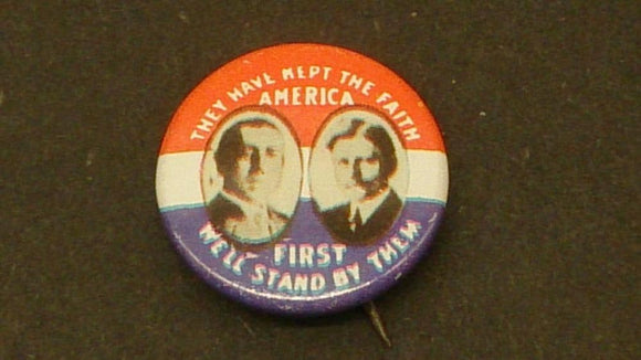 Woodrow Wilson & John Marshall 1916 Presidential Campaign Button - Roadshow Collectibles