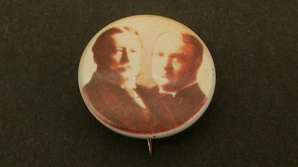 William H. Taft and James S. Sherman Political Campaign Button Of 1908 - Roadshow Collectibles
