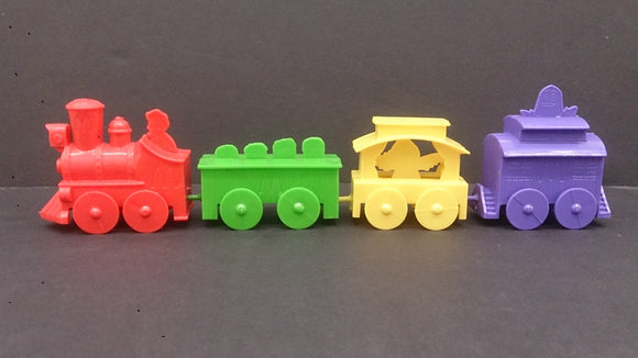 1982 McDonald's Happy Meal Junction Train, Engine with Three Cars - Roadshow Collectibles