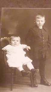 Black & White Portrait Two Children By Burdge Greenville, Ohio, U.S.A - Roadshow Collectibles