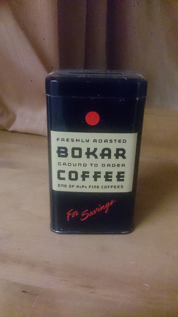 Bokar Coffee Still Bank, Tin Litho Freshly Roasted BOKAR Coffee A&P's - Roadshow Collectibles