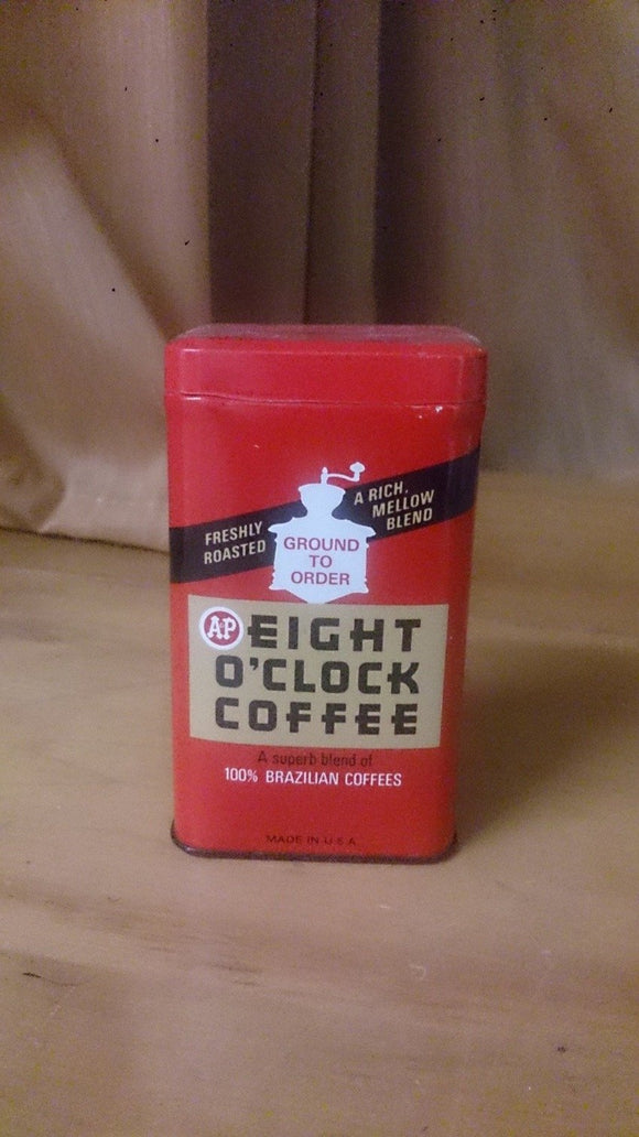Eight O'Clock Coffee Still Bank Tin Litho Freshly Roasted Mellow Blend - Roadshow Collectibles