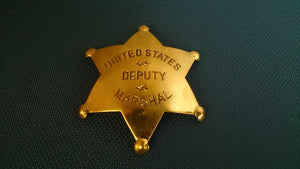 United States Deputy Marshal Badge, Brass, Reversed Embossed - Roadshow Collectibles