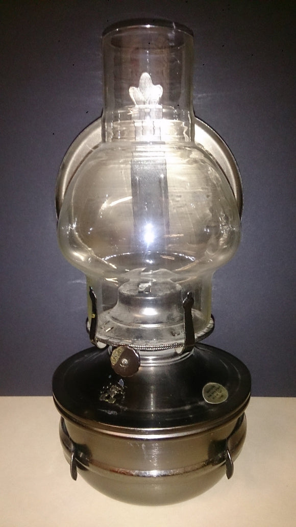Tin Glass Globe with Reflector Oil Lantern - Roadshow Collectibles