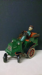 Tin Toy Convertible Vehicle Male Driver Wearing a Cap and Goggles - Roadshow Collectibles