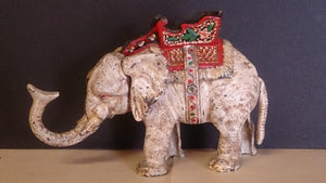 Hubley Mechanical Coin Bank, White Elephant, Cast Iron, Hand-Painted - Roadshow Collectibles