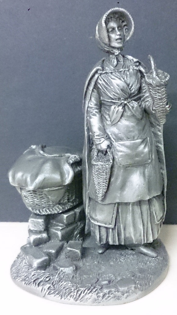The Franklin Mint Pewter Figurine The Strawberry Girl 1977 - Roadshow Collectibles