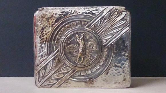 Cigarette Storage Box, Golf Themed, Markings WB MFG Co. 790 Underneath - Roadshow Collectibles