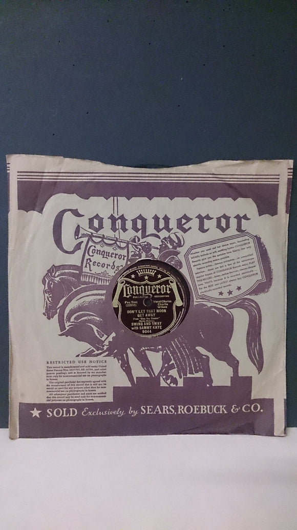 Conqueror Records, Performances By Bert Block, and Sammy Kaye - Roadshow Collectibles