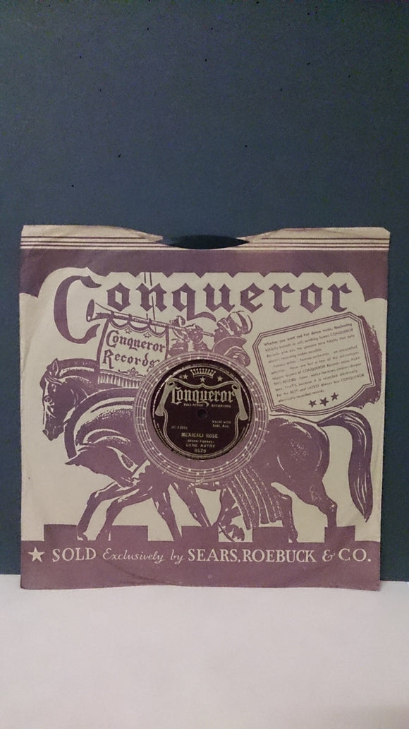 Conqueror Records, Recorded Performance By Gene Autry - Roadshow Collectibles
