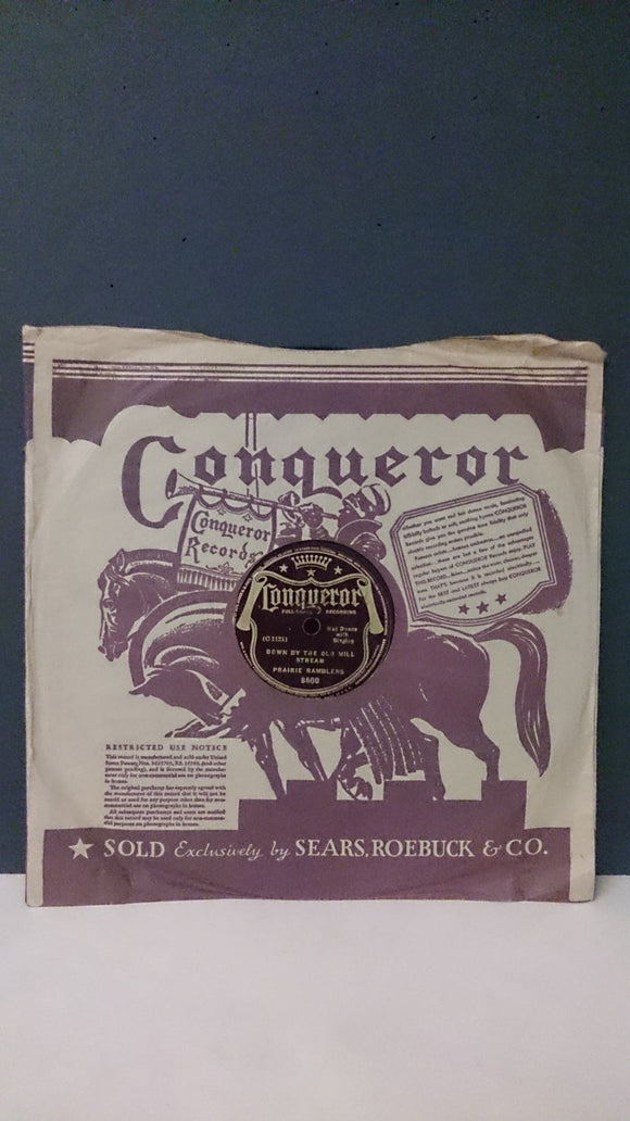 Conqueror Records/Recorded Performance by Prairie Ramblers - Roadshow Collectibles