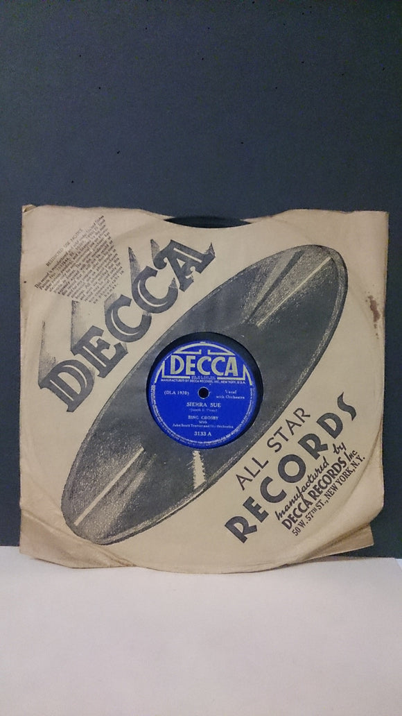 Decca Records Featuring Bing Crosby & John S. Trotter and Orchestra - Roadshow Collectibles