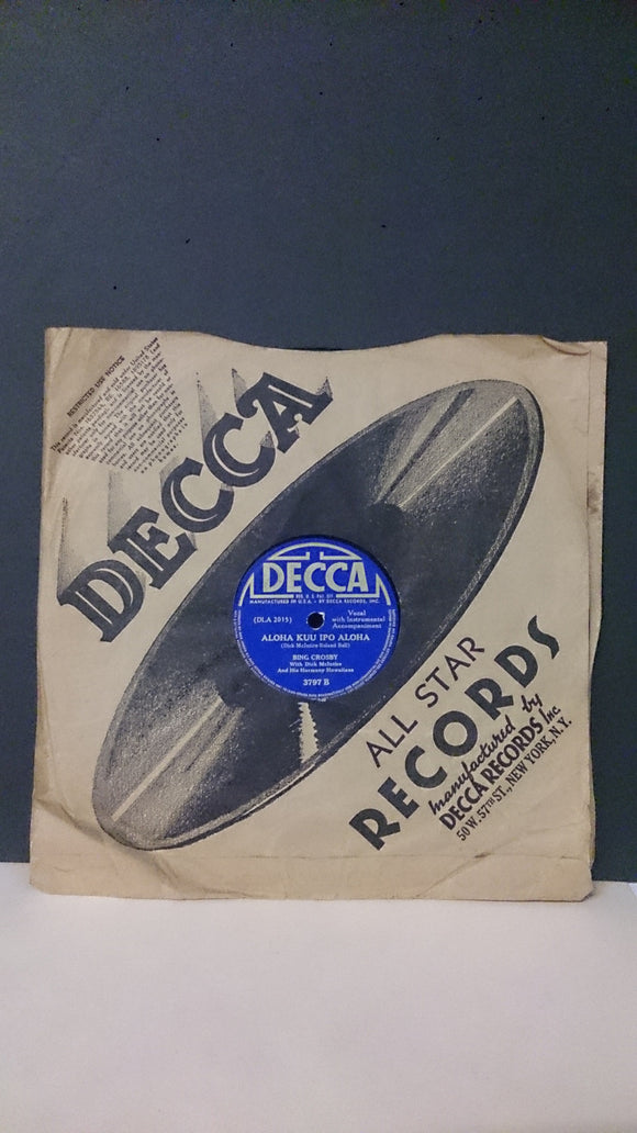 Decca Records, Bing Crosby, The Paradise Island Trio, & Dick McIntire - Roadshow Collectibles